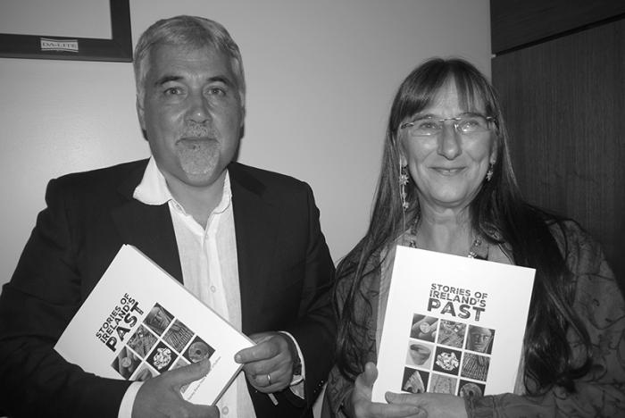 Co-editor Professor Aidan O'Sullivan and Dr Alison Sheridan at the launch of Stories of Ireland's Past