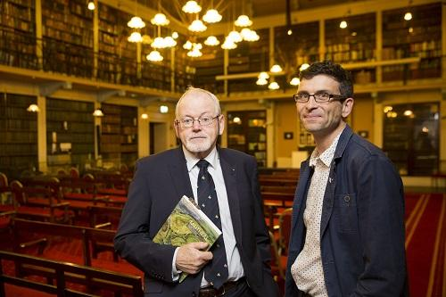 Professor Michael Ryan (left) and Matthew Seaver, author of Meitheal