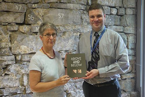 Dr Ann Lynch and Rónán Swan, Head of TII Archaeology and Heritage, at the book launch.